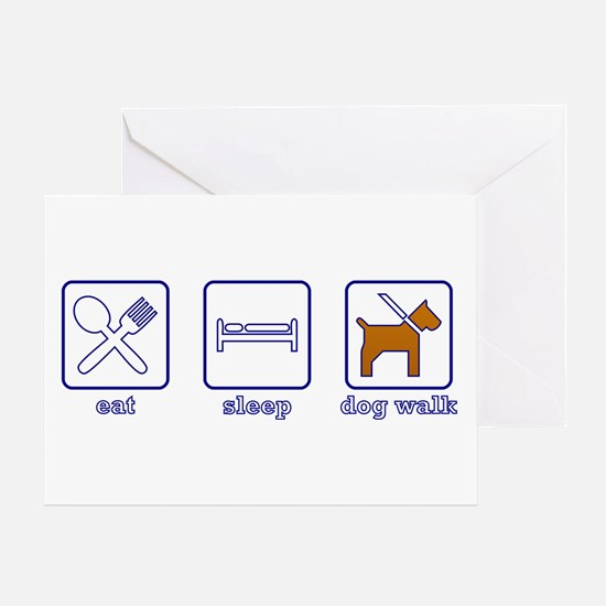 Eat. Sleep. Dogwalk. Greeting Card
