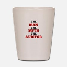 The Man The Myth The Auditor Shot Glass