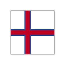 """Square Faroe Islands Flag Square Sticker 3"""" x 3"""""""
