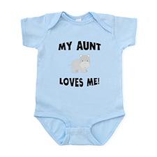 My Aunt Loves Me Hippo Body Suit