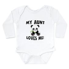 My Aunt Loves Me Panda Body Suit