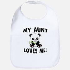 My Aunt Loves Me Panda Bib