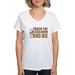 Touch/Die Flugel Women's V-Neck T-Shirt