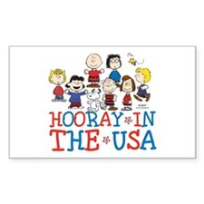 Hooray in the USA Sticker (Rectangle)