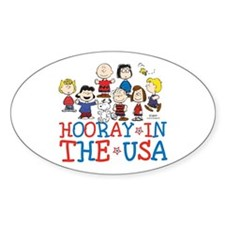 Hooray in the USA Sticker (Oval)
