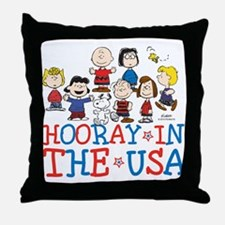 Hooray in the USA Throw Pillow
