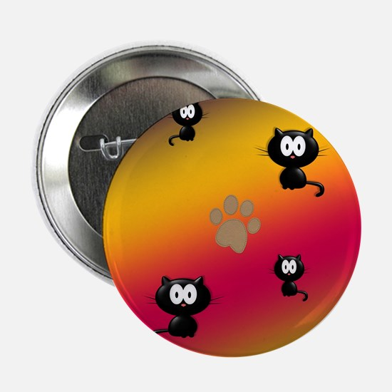 """Cat Graphic 2.25"""" Button (10 pack)"""