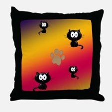 Cat Graphic Throw Pillow