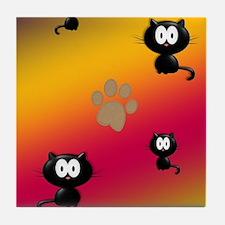 Cat Graphic Tile Coaster