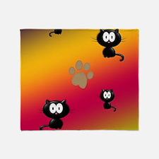 Cat Graphic Throw Blanket