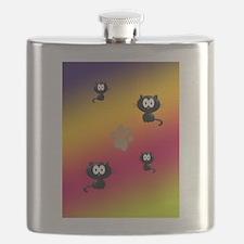 Cat Graphic Flask