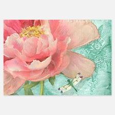 Fleurs - Peony Garden Flower w Dragonf Invitations