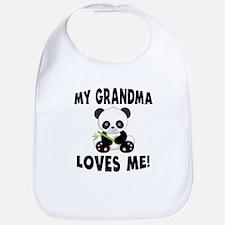 My Grandma Loves Me Panda Bib