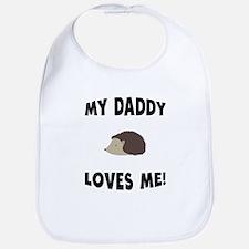 My Daddy Loves Me Hedgehog Bib