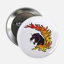 Black Panther & Flames/Fire Design Button