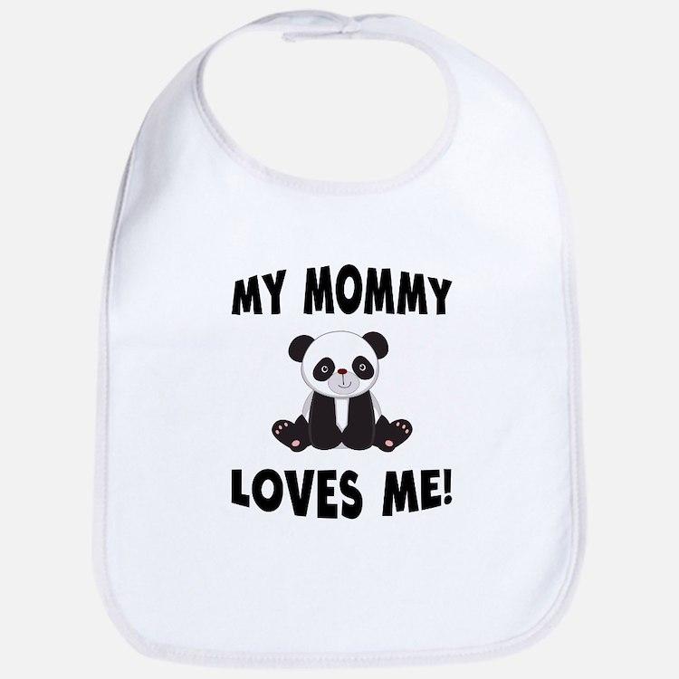 My Mommy Loves Me Panda Bib