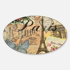 Paris France Vintage Europe Travel Decal