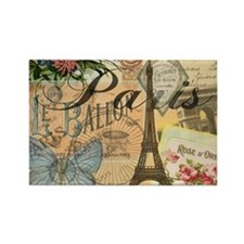 Paris France Vintage Europe Trave Rectangle Magnet