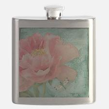 Fleurs - Peony Garden Flower w Dragonfly Flask