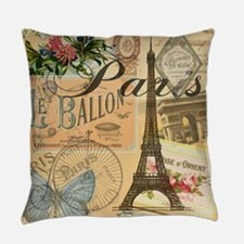 Paris France Vintage Europe Travel Everyday Pillow