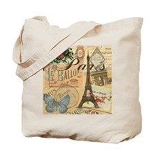 Paris France Vintage Europe Travel Tote Bag