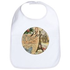 Paris France Vintage Europe Travel Bib