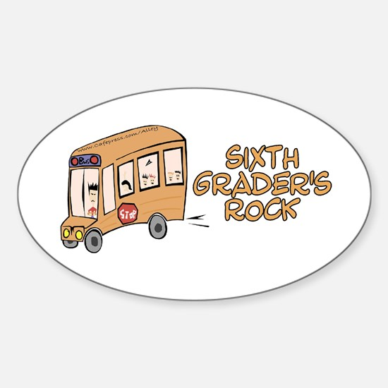 6th Grade Oval Decal