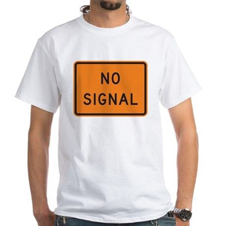 No Signal White T-Shirt