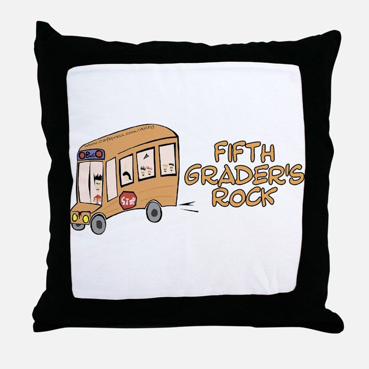 5th Grade Throw Pillow