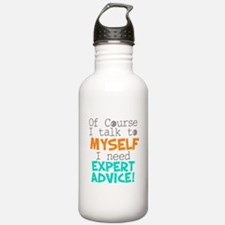 I Talk To Myself Water Bottle