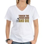 Touch/Die French Women's V-Neck T-Shirt