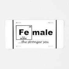 FEmale Aluminum License Plate