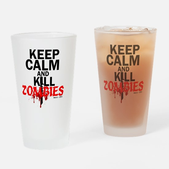 Cute Zombi Drinking Glass
