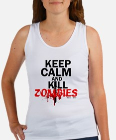 Unique Keep calm and kill zombies Women's Tank Top