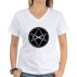 Unicursal Hexagram Women's V-Neck T-Shirt