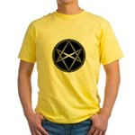 Unicursal Hexagram Yellow T-Shirt