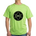 Unicursal Hexagram Green T-Shirt