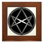 Unicursal Hexagram Framed Tile