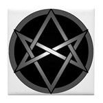 Unicursal Hexagram Tile Coaster