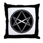 Unicursal Hexagram Throw Pillow
