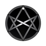 Unicursal Hexagram Ornament (Round)