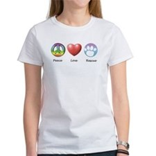 Unique Peace love cats Tee
