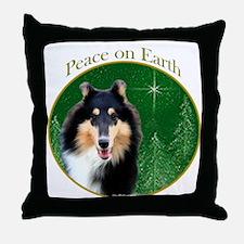 Collie Peace Throw Pillow
