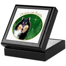 Collie Peace Keepsake Box