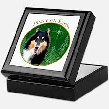 Collie Peace Keepsake Box