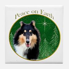 Collie Peace Tile Coaster
