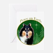 Collie Peace Greeting Card
