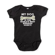 Worlds Best Siberian Husky Baby Bodysuit