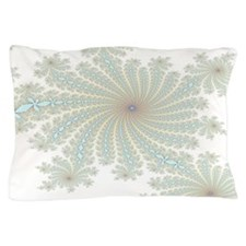 Delicate Aqua Flowers Pillow Case