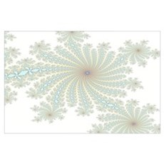 Delicate Aqua Flowers Poster
